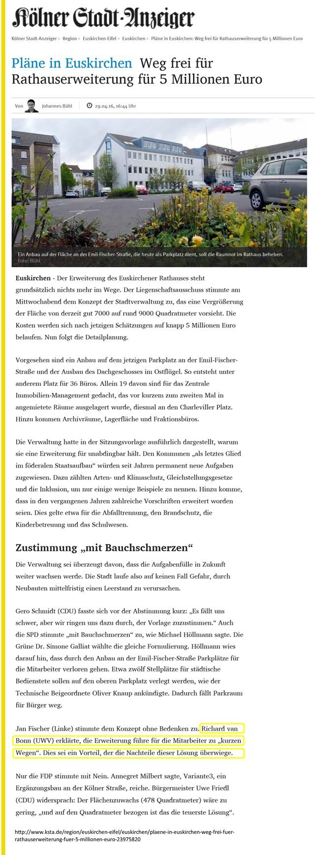 Plaene in Euskirchen Weg frei für Rathauserweiterung für 5 Millionen Euro - KSTA